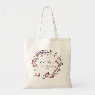 Bridesmaid Bag Rustic Mountain Flowers