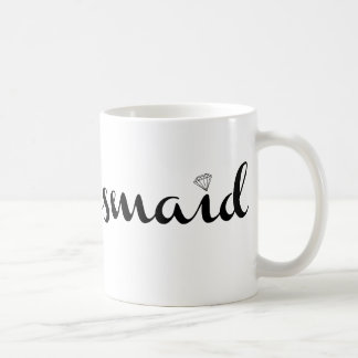 Bridesmaid Black on White Coffee Mug