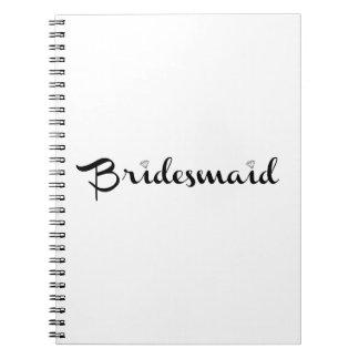 Bridesmaid Black on White Journal