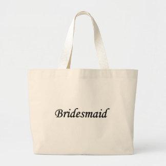 Bridesmaid Black w Gray Tote Bag