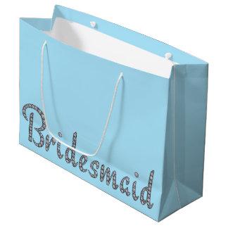 Bridesmaid bling gift bag