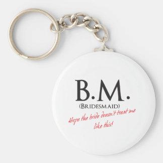 Bridesmaid- BM Key Chain
