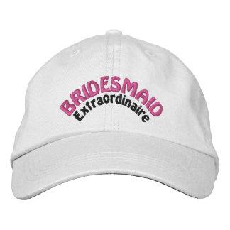 Bridesmaid Bridal Party Embroidered Baseball Caps
