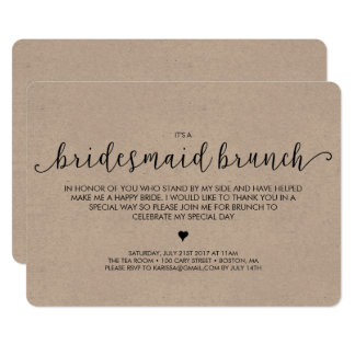 Bridesmaid Brunch Invitation - Kraft