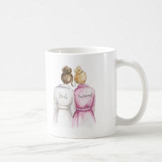 Bridesmaid? Brunette Bun Bride Bl Bun Maid Coffee Mug