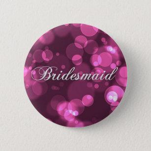 Bridesmaid Button [Pink Bokeh]