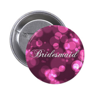 Bridesmaid Button [Pink Bokeh]