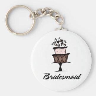Bridesmaid Cake Key Chains