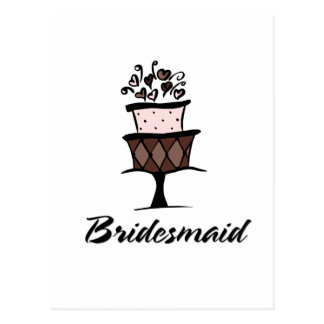 Bridesmaid Cake Postcard