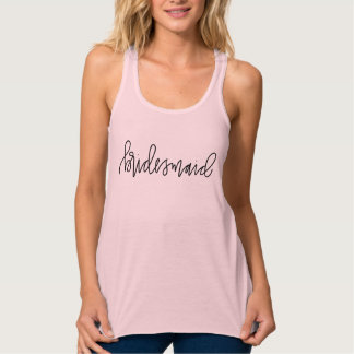 Bridesmaid Calligraphy Flowy Racerback Tank Top