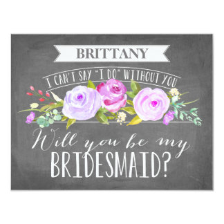 Bridesmaid Card | Bridesmaid 11 Cm X 14 Cm Invitation Card