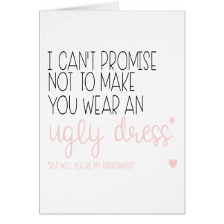 Bridesmaid card, Will you be my bridesmaid, Weddin Card