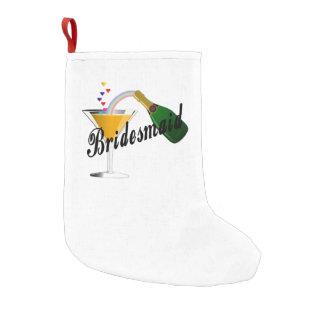 Bridesmaid Champagne Toast Small Christmas Stocking