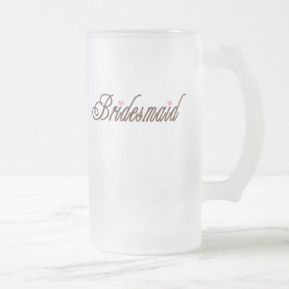 Bridesmaid Classy Browns Frosted Glass Mug