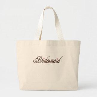 Bridesmaid Classy Browns Jumbo Tote Bag