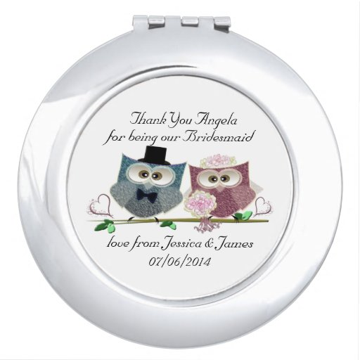 Bridesmaid Compact Mirror Gift