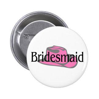 Bridesmaid (Cowboy Hat) 6 Cm Round Badge