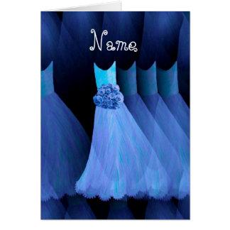 BRIDESMAID Custom Name - COBALT BLUE Dresses Card