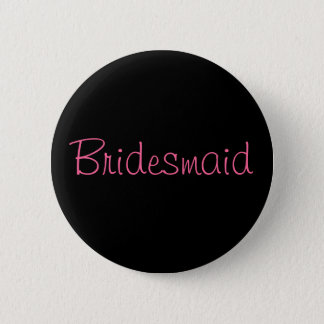 Bridesmaid Custom Wedding Party Button