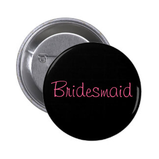 Bridesmaid Custom Wedding Party Button