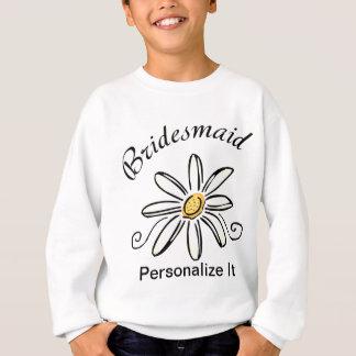 Bridesmaid Daisy Flower Sweatshirt