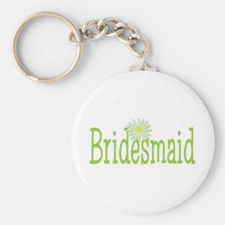 Bridesmaid/ Daisy theme Basic Round Button Key Ring