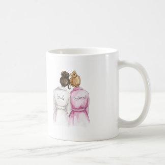 Bridesmaid? Dark Br Bun Bride Dark Bl Bun Maid Coffee Mug