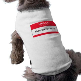 Bridesmaid Dog Tank Top Pet Clothes