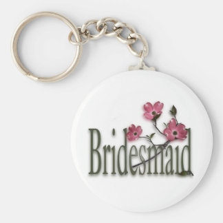 Bridesmaid/ Dogwood Wedding Key Ring