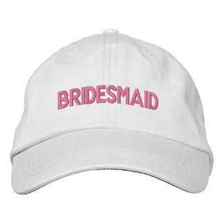 Bridesmaid Embroidered Cap