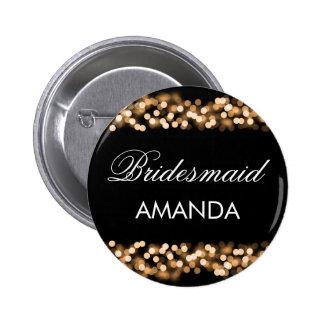 Bridesmaid Favor Gold Hollywood Glam 6 Cm Round Badge