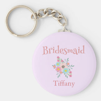 Bridesmaid Floral keepsake Key Ring