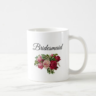 Bridesmaid Floral Roses Bouquet Mug