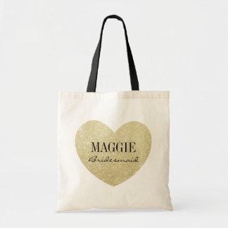 Bridesmaid Glitter heart-Print personalize