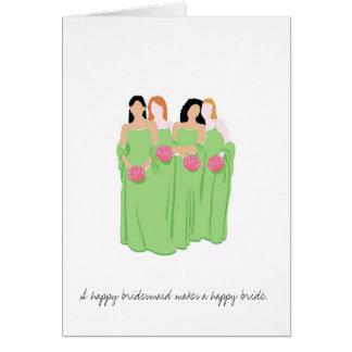 Bridesmaid Greeting Card