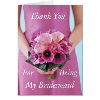 Bridesmaid Kit Poem Card