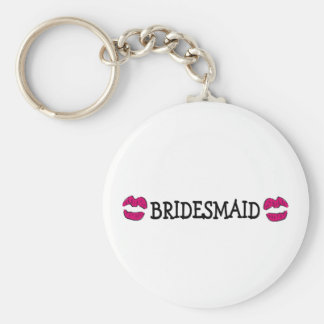 Bridesmaid (Lips Kiss) Basic Round Button Key Ring