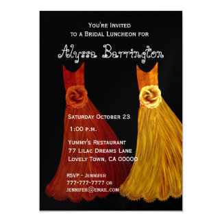 "Bridesmaid Luncheon or Brunch Fall Dresses S001 5"" X 7"" Invitation Card"