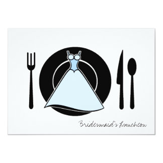 "Bridesmaid Luncheon - Serving Set 4.5"" X 6.25"" Invitation Card"