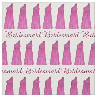 Bridesmaid Maid of Honor Dress Bridal Party Gown Fabric