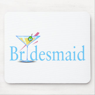 Bridesmaid Martini Blue Mouse Pads