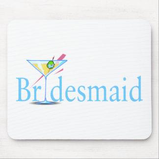 Bridesmaid (Martini Blue) Mouse Pad