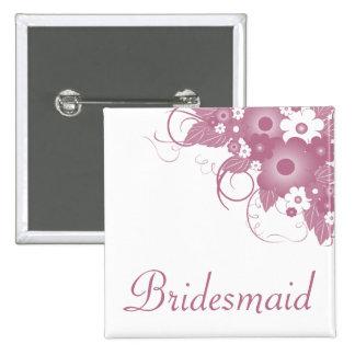 Bridesmaid Mauve Bouquet Button