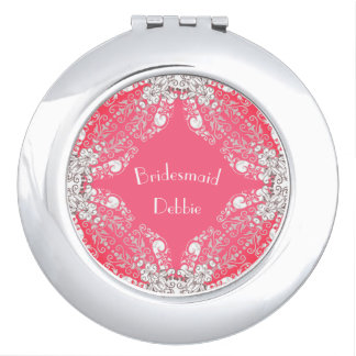 Bridesmaid-Monogram-Coral-Lace_Multi Shapes Compact Mirrors