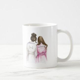 Bridesmaid? Mug Dk Brunette Bride Long Br Maid