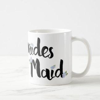 Bridesmaid Mug - Purple Hydrangeas