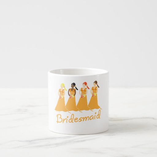 Bridesmaid Peach Dresses Espresso Cup