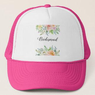 Bridesmaid Peony Trucker Hat
