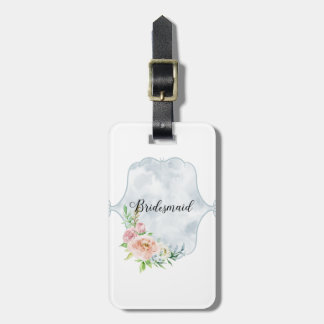 Bridesmaid Periwinkle Vignette Luggage Tag