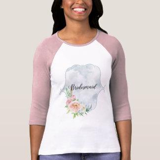 Bridesmaid Periwinkle Vignette T-Shirt